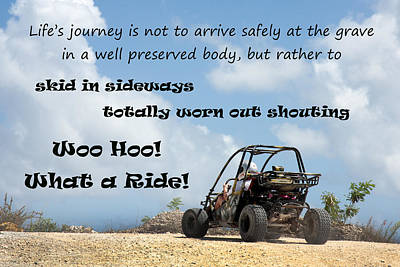 Woo Hoo What A Ride Poster