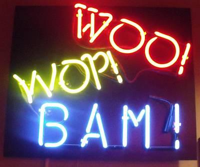 Woo Wop Bam Poster by Anna Villarreal Garbis
