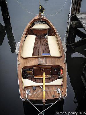 Wood Boat Nantucket Poster