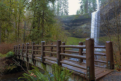 Wood Bridge At Silver Falls State Park Poster