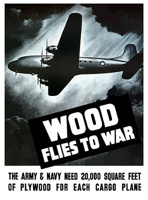 Wood Flies To War Poster by War Is Hell Store