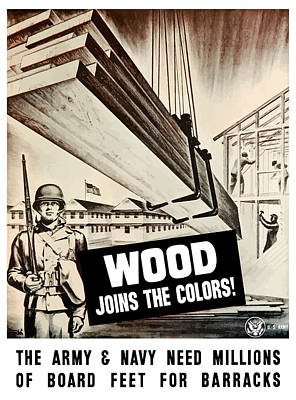 Wood Joins The Colors - Ww2 Poster by War Is Hell Store