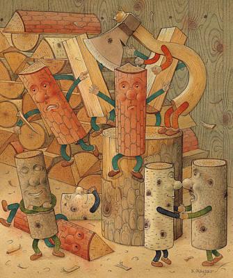 Wood Poster by Kestutis Kasparavicius