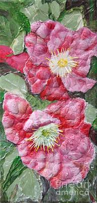 Poster featuring the painting Wood Roses by Terri Thompson