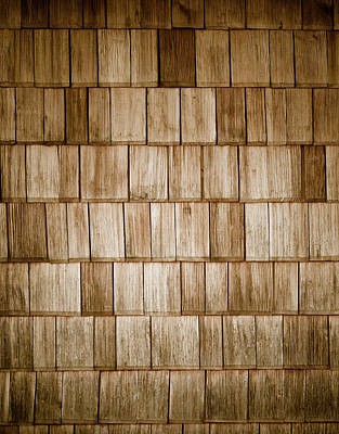 Wood Shingles Poster by Frank Tschakert