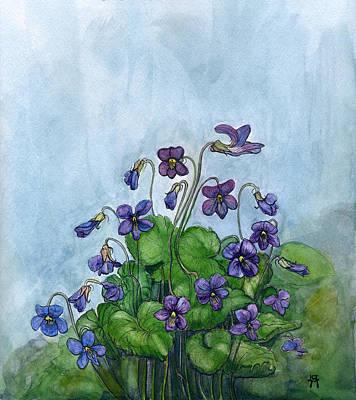 Wood Violets Poster