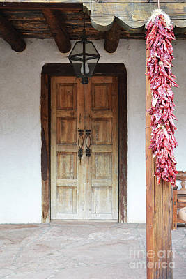 Poster featuring the photograph Wooden Chili Door by Andrea Hazel Ihlefeld