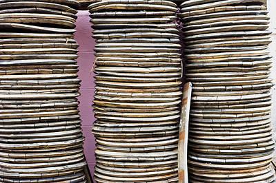 Wooden Discs Poster