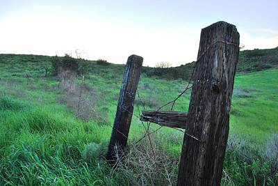 Poster featuring the photograph Wooden Gate In Field by Matt Harang