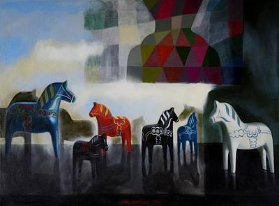 Wooden Horses     Poster by Jukka Nopsanen