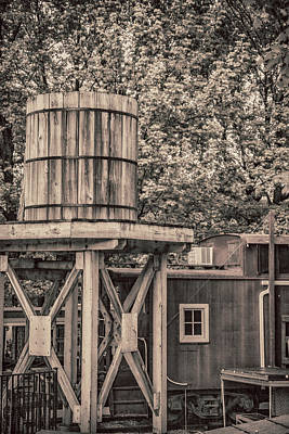 Wooden Water Tower Poster by Pamela Williams