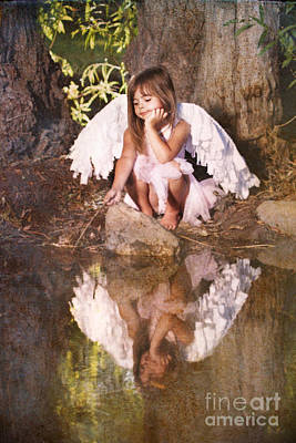 Woodland Fairy Poster by Cindy Singleton