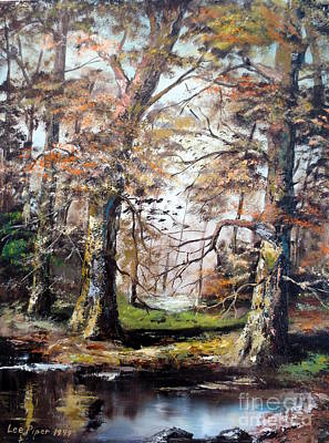 Poster featuring the painting Woodland Pond  by Lee Piper