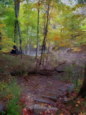 Woodland Steps Poster