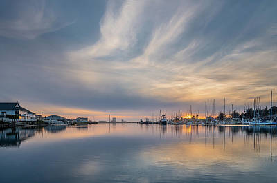 Woodley Island Marina Spring Dusk Poster by Greg Nyquist