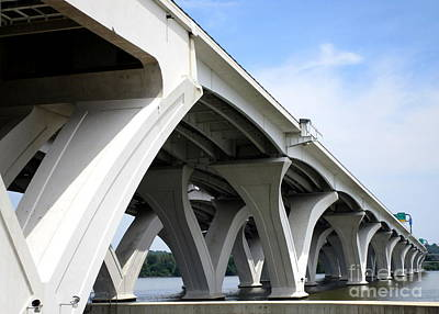 Woodrow Wilson Bridge 6 Poster by Randall Weidner