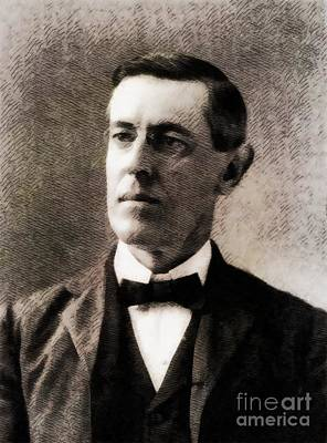 Woodrow Wilson, President Of The United States By John Springfield Poster by John Springfield