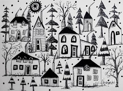 Woodsy Village Poster by Karla Gerard