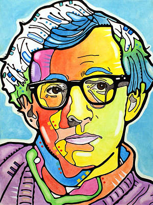 Poster featuring the painting Woody Allen by Dean Russo
