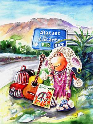 Woolhelmina The Scottish Sheep Playing Flamenco Poster