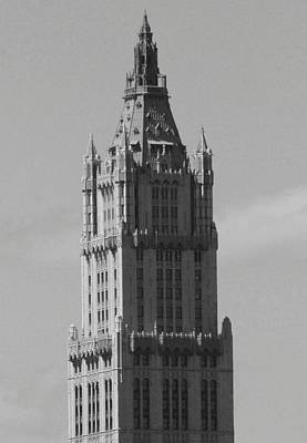 Woolworth Building Black And White Poster