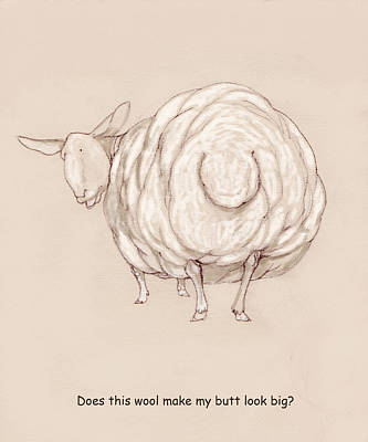 Wooly Butt Poster by Peggy Wilson