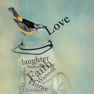 Poster featuring the photograph Love by Robin-Lee Vieira