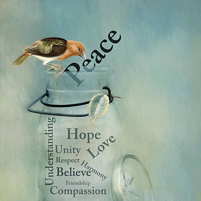 Poster featuring the photograph Peace by Robin-Lee Vieira
