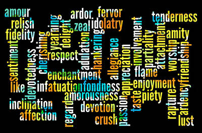 Words Of Affection Poster by Bill Cannon