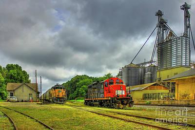 Work Horse Trains 7 Madison Georgia Locomotive Art Poster