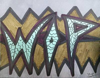 Work In Progress Poster by SOS Art Gallery