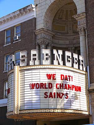 World Champion Saints Poster