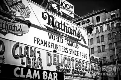 World Famous Nathan's Poster by John Rizzuto