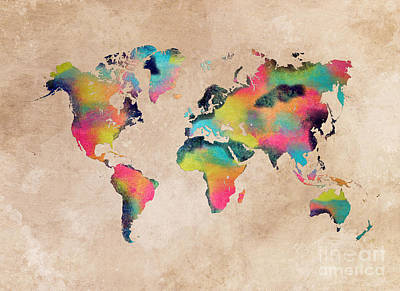 World Map 1 Poster