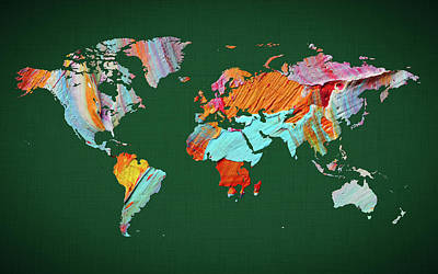 World Map 23 Poster
