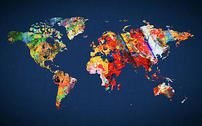 World Map 24 Poster
