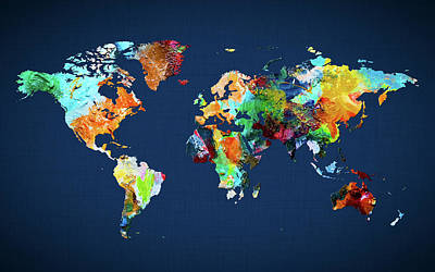 World Map 25 Poster
