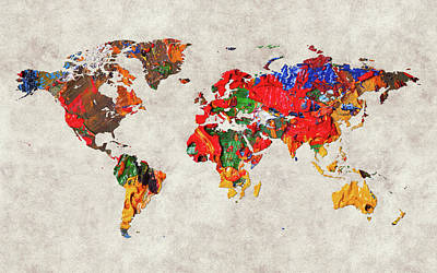 World Map 26 Poster