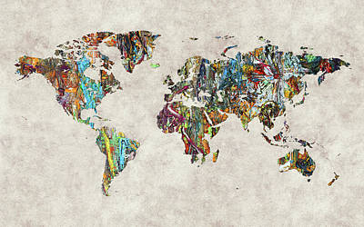 World Map 28 Poster