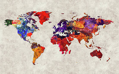 World Map 32 Poster