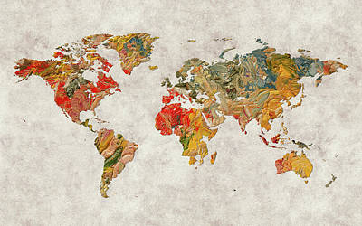 World Map 37 Poster