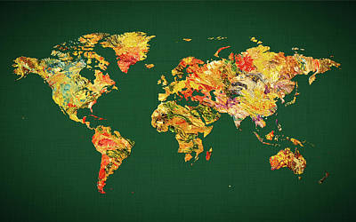 World Map 38 Poster