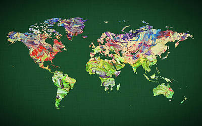 World Map 39 Poster