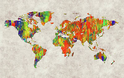 World Map 40 Poster
