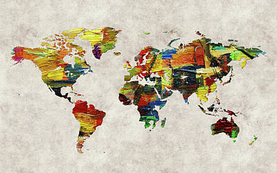 World Map 44 Poster