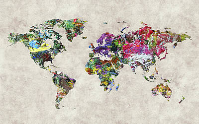 World Map 45 Poster