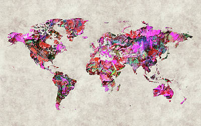 World Map 47 Poster