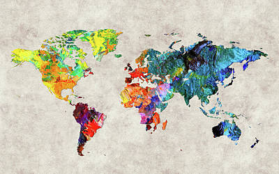 World Map 48 Poster
