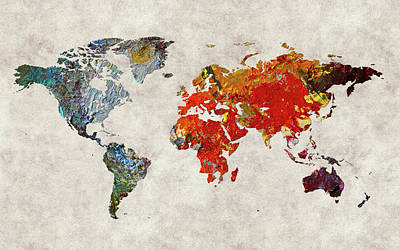 World Map 49 Poster