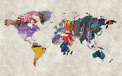 World Map 59 Poster